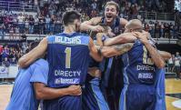 Uruguay festeja una histórica victoria ante Argentina. Foto: FIBA