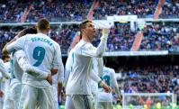 Cristiano Ronaldo y Real Madrid festejando. Foto: AFP