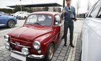 El Fiat 600 de Sergio Ramos. Fotos: @sergioramos