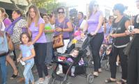 Cientos marcharon en Durazno por el Día de la Mujer. Foto: Víctor Rodríguez