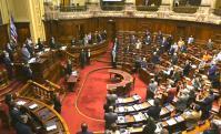 Minuto de silencio en la Cámara de Representantes por el triple asesinato de los infantes de marina. Foto: Darwin Borrelli